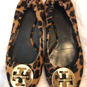 Tory Burch Cheetah Print Flats Size 10